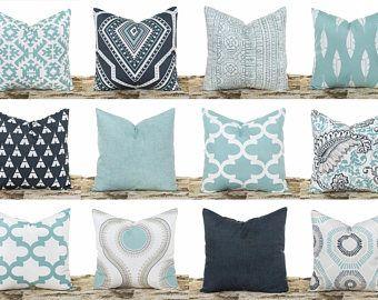 Teal Throw Pillow Covers, Southwestern Pillows, Pillowcases, Cushion Covers, Decorative Pillows, Pillow Sham, Cotton Pillowcases, Home Decor