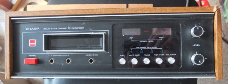 SHARP 8 TRACK TAPE PLAYER RECORDER rt-811e in Sound & Vision, Home Audio & HiFi Separates, Cassette/Tape Players | eBay