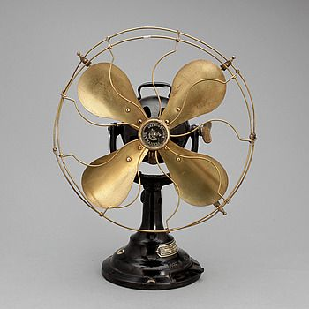 Cast Iron Fan with Brass Cage & Blades.