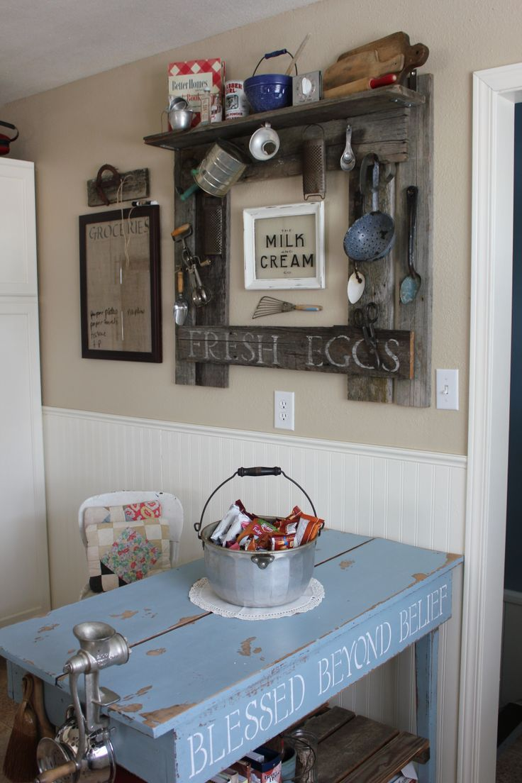 Barn Wood Decor Signs: 18 Best Images About Primitive Kitchen Islands On
