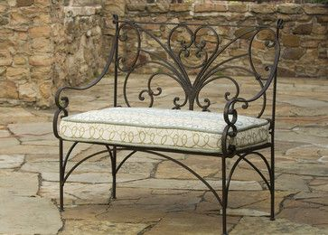 I am looking for a small bench for my porch. I just had my had redone in tuscan style. I love the Lutyen English style black wood benches. Can I pu