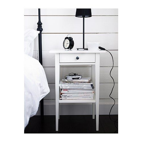 HEMNES Nightstand, white