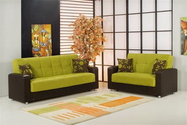 Green and Modern Sofa for Living Room
