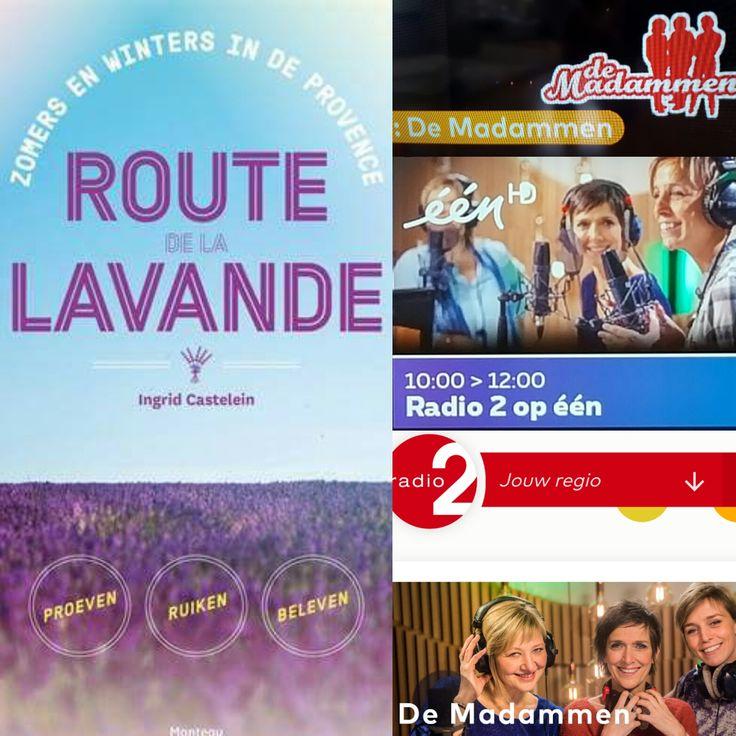 ingrid castelein @incastel · 1 min.1 minuut geleden      Meer                                 RADIO2 - VRT Op vrijdag 9/6/17 is auteur Ingrid Casteleinuitgenodigd op de VRT. DE MADAMMEN, van het gelijknamige radioprogramma, willen alles weten over haar boeken  ROUTE DE LA LAVANDE en MON(T)VENTOUX. Het gesprek vindt plaats vanaf 10 uur, op RADIO2, en wordt simultaan uitgezonden op televisie, op EEN.