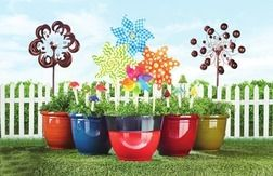 Bright Resin Planters from The Christmas Tree Shops $6.99