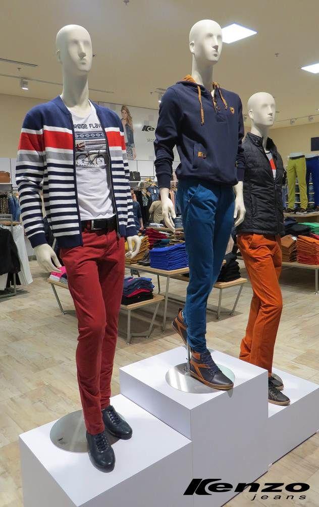 El color se toma los pantalones. Renueva tu look con estas prendas cómodas, frescas y versátiles. #KenzoJeans