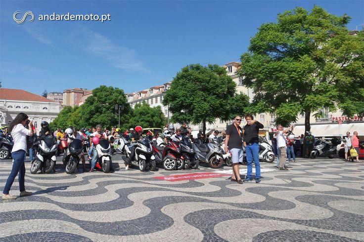 As scooters foram, por um dia, donas e senhoras da cidade. Deram nas vistas e cativaram novos e incondicionais fãs.