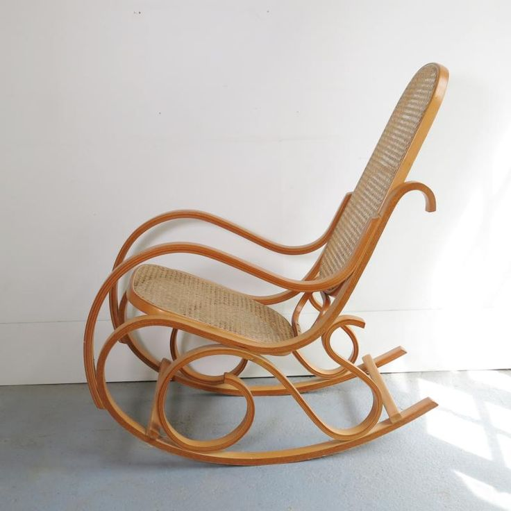 rocking chair en rotin et cannage en vente sur lueshop de baos