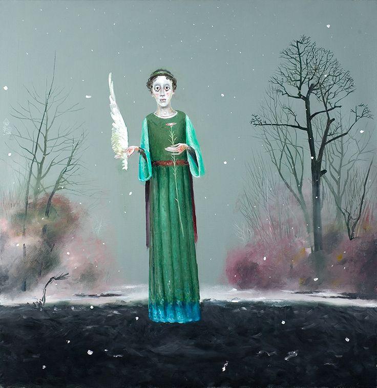 Poet With Flower - Stefan Caltia