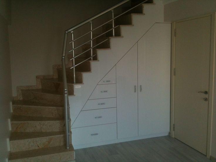 Hicret Mobilya ve Dekorasyon, Merdiven altı ergonomik kullanım.
