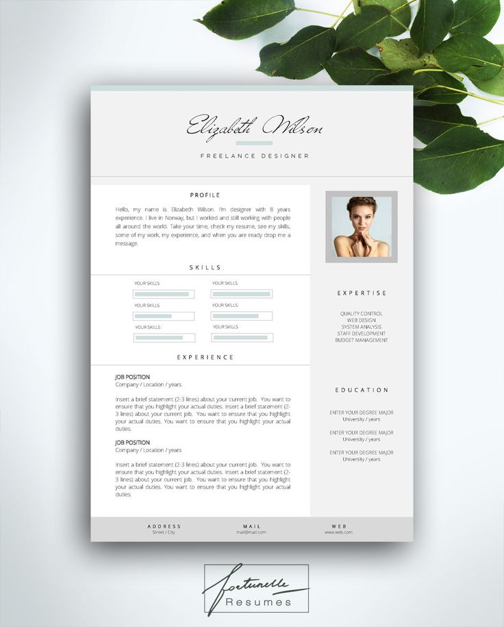 Resume Template 3 page   CV Template + Cover Letter   Instant - check my resume
