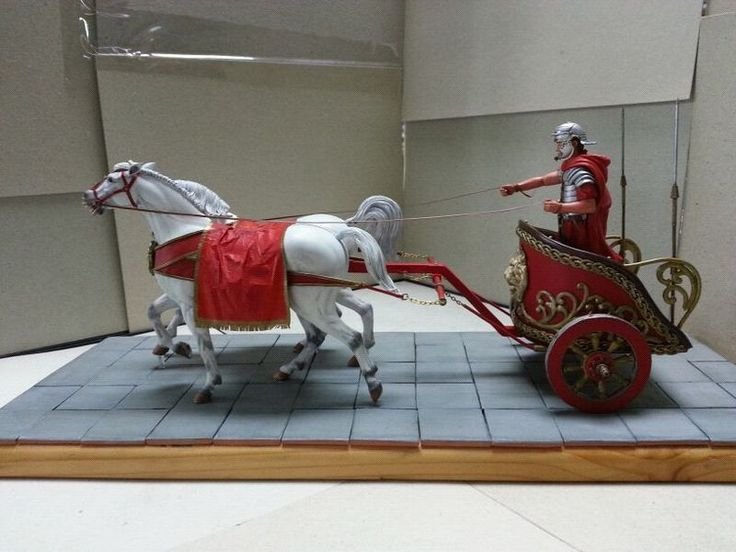 Roman Biga: War Chariot pulled by two horses