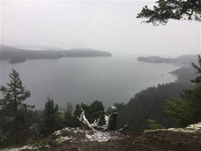 View towards Gibsons BC from Soames Hill
