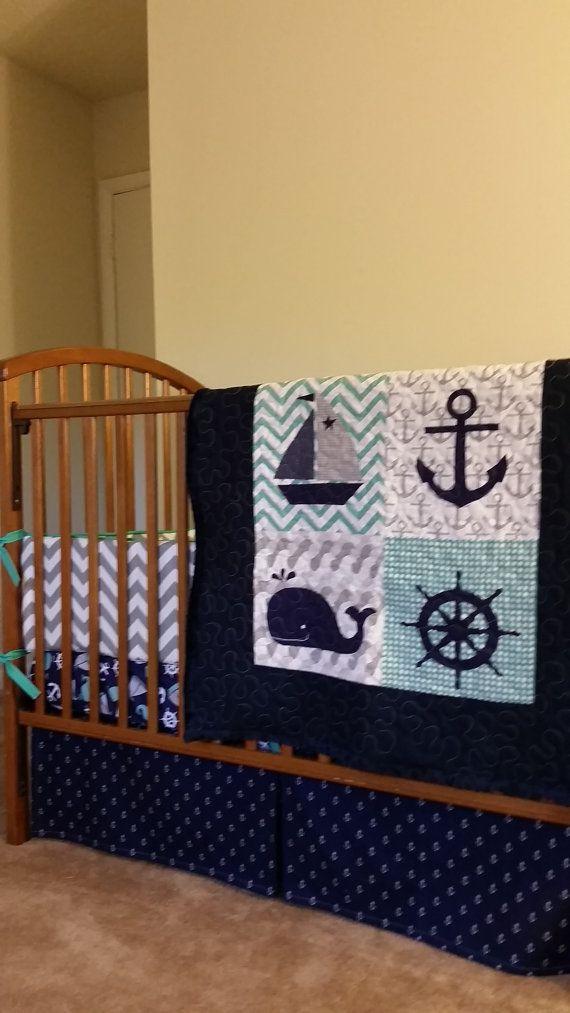 Nautical Treasure  Custom Baby Bedding Baby by EverythingSewn91