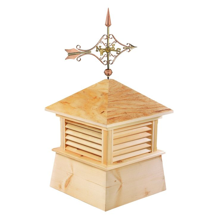 Good Directions Square Kent Wood Cupola with Cottage Victorian Arrow - 2118K-8842P