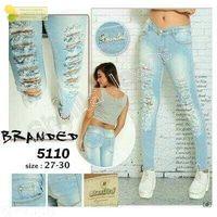 Celana Jeans Wanita Robek Branded 5110