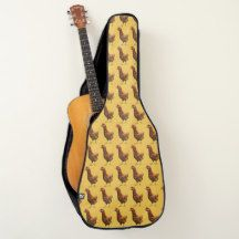 Rhode Island Red Hen Chicken Guitar Case