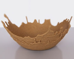 Sand Bowls- just sand mixed with glue and dripped over a bowl until it hardens. Perfect for holding your summer seashell collection. - Possible gift idea for my Dad.