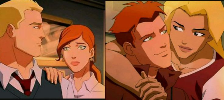 Barry Allen and Iris West. Wally West and Artemis Crock.Young Justice