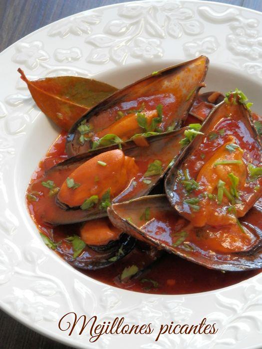 Mandil & Perejil: MEJILLONES PICANTES #El placer de cocinar