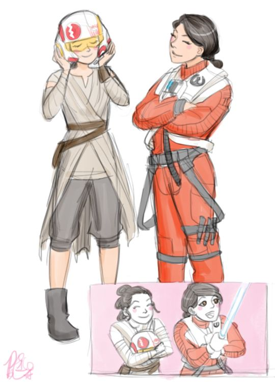 I feel like Rey, Jess and Ri would make 'female club' sort of thing so that they could complain about boys and stuff