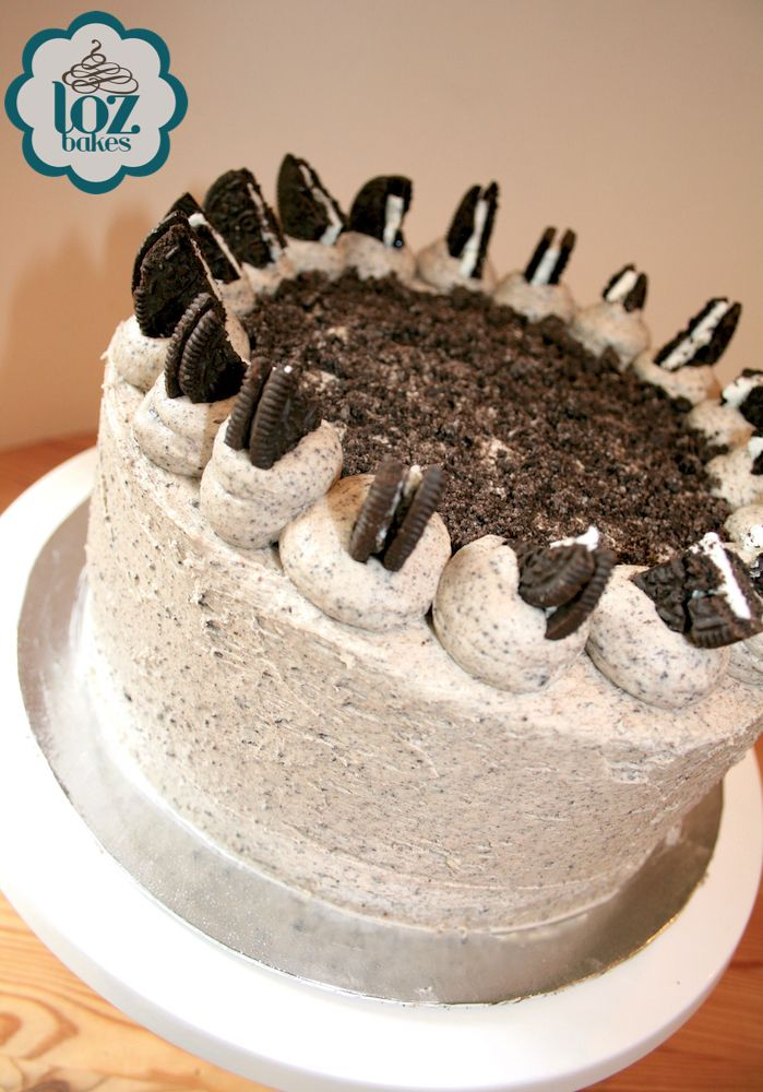 3 layers of moist chocolate cake with Oreo buttercream and more Oreos in between each layer. If you have a sweet tooth, this cake is for you!
