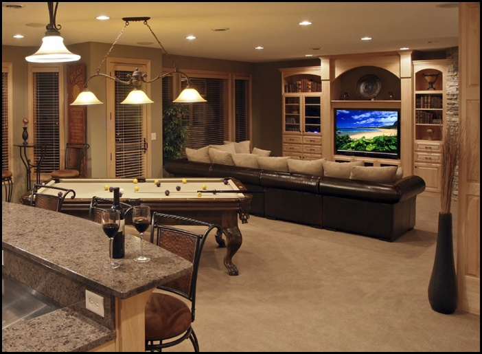 My dream home theater and game room man cave game room pinterest bar pool table - Basement game room ideas ...