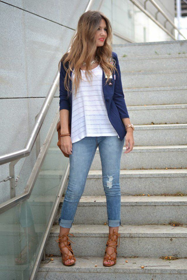 20 Fashionable Jeans Outfit Ideas for Spring Summer
