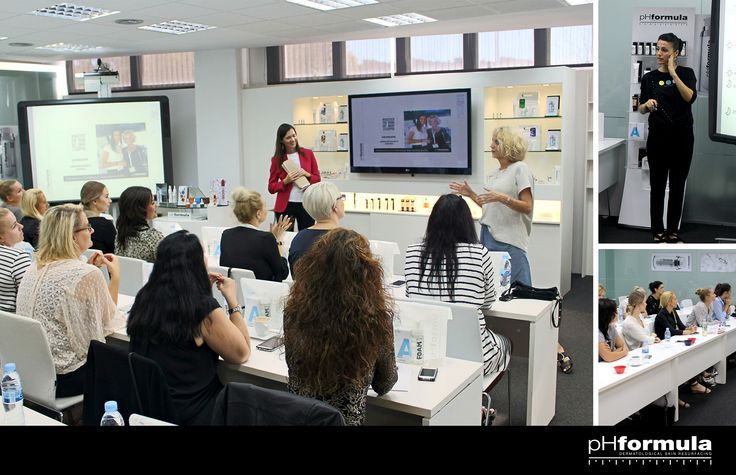 Today top skin specialists from Denmark are visiting Phformula in Barcelona. Petru van Zyl (Founder) and Susanna Porras (International Educator) are seen here training  the skin specialists at the Academy.  We hope you enjoy the time with us and would love to hear about some of the highlights of your visit! #pHabulous event! #pHformula #Denmark