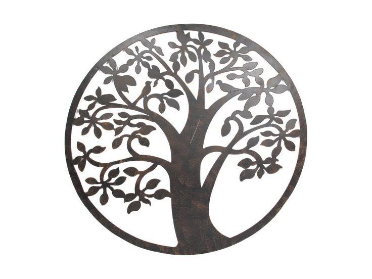 61cm Tree of Life Metal Rustic Wall Art