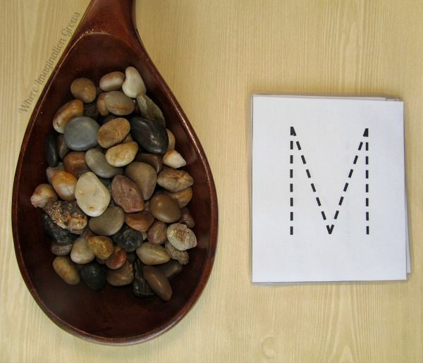 Letter Recognition with Rocks - Where Imagination Grows