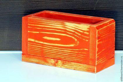 Дизайн интерьеров ручной работы. Ярмарка Мастеров - ручная работа. Купить Декоративный ящик из старых поддонов. Handmade. Ярко-красный