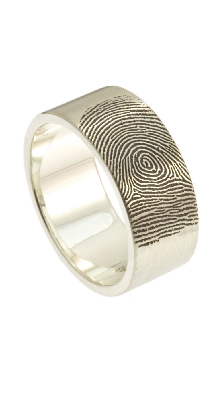 Fabulous A bold ring with enough width the show the many unique qualities of the fingerprint of