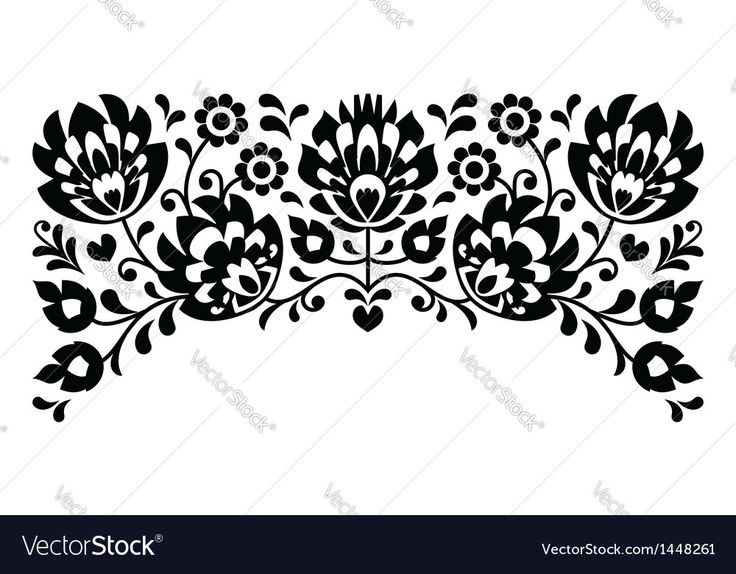 Traditional vector pattern form Poland - monochrome paper catouts style isolated on white. Download a Free Preview or High Quality Adobe Illustrator Ai, EPS, PDF and High Resolution JPEG versions.