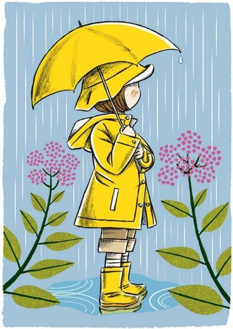 I love kids in the rain slicker with boots....byNaoto Tajima