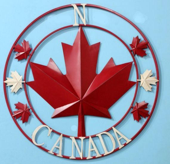True north strong and free lines from the Canadian national anthem you will never forget. Share your national pride with this wall art showing the cardinal north strong like a moral compass. The artwork features the red maple leaf, symbolic of our flag and the word Canada emblazoned across the bottom of the compass circle. We celebrate Canada on July 1st, a 150 year anniversary in 2017. But we are Canadian every day. Show your love of our great nation now!