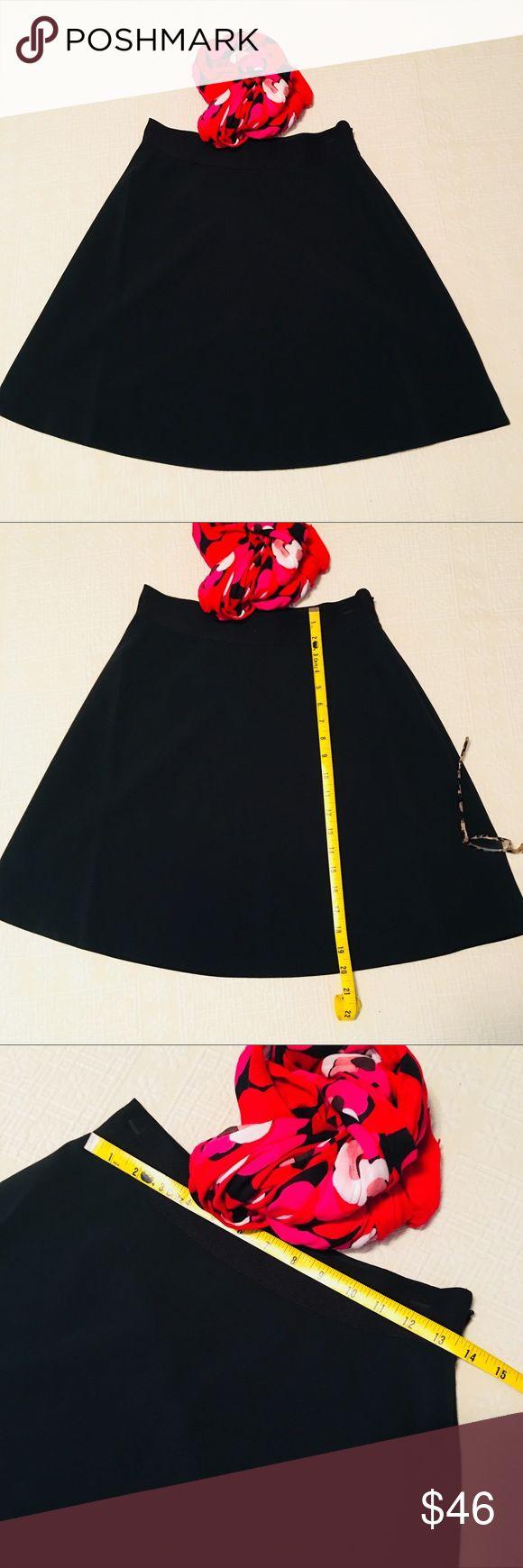 NWOT ksny little black skirt Skirt the rules! Lovely little black skirt from kate spade ♠️❤️ elastic waist band, nice drape, side zip. NWOT size 6 kate spade Skirts