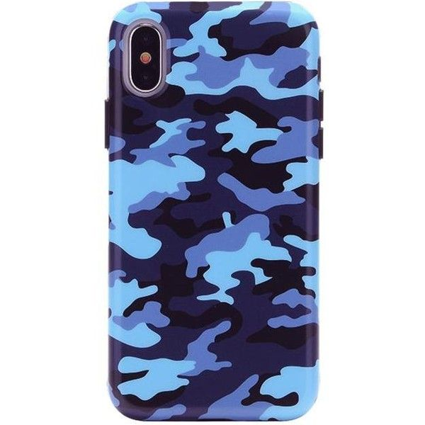 Deep Blue Camo iPhone Case ($40) ❤ liked on Polyvore featuring accessories, tech accessories, iphone sleeve case and iphone cover case