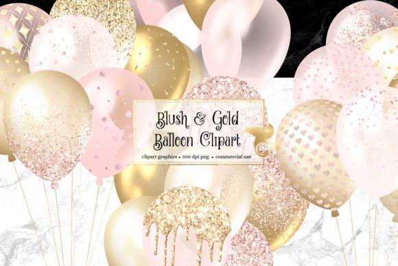 Pin By Yoppy On Design In 2020 Gold Balloons Glitter Balloons Blush Balloons