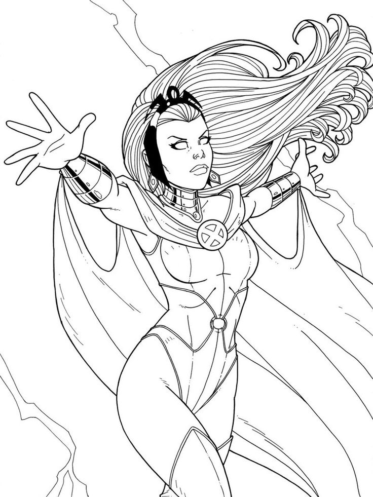 X men coloring pages of storms