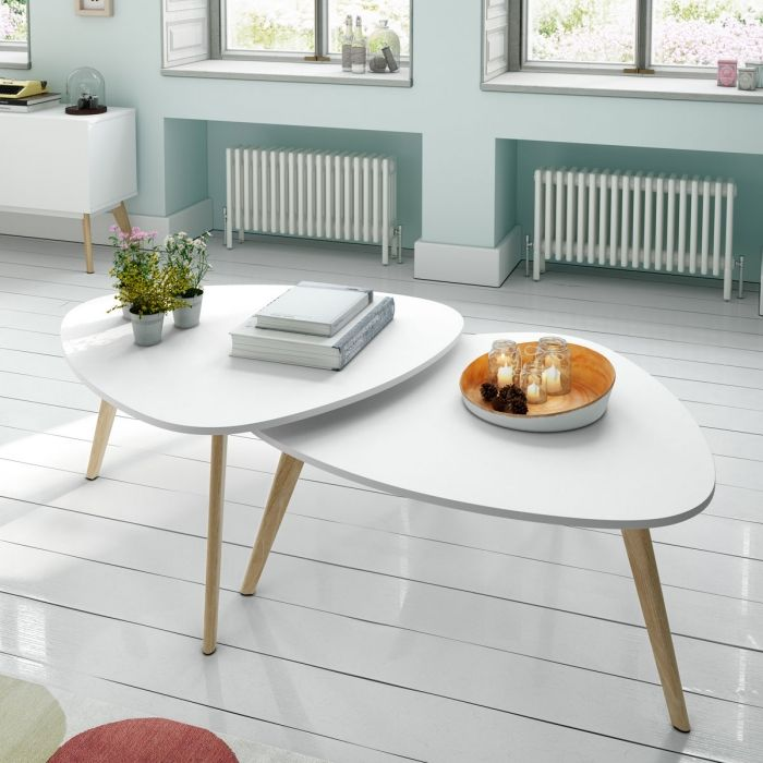 Table basse gigogne design Collection Compas