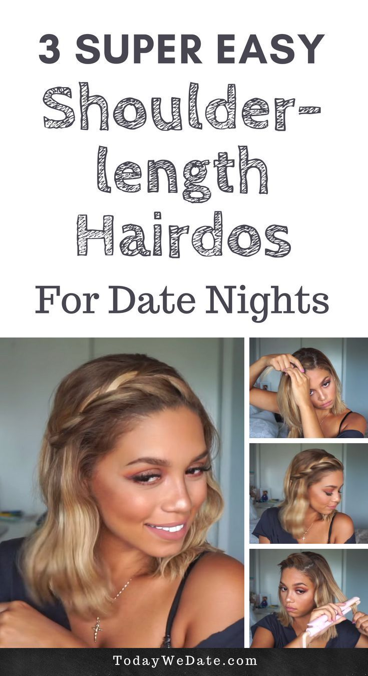 3 easy shoulder-length hairstyles to up your date night