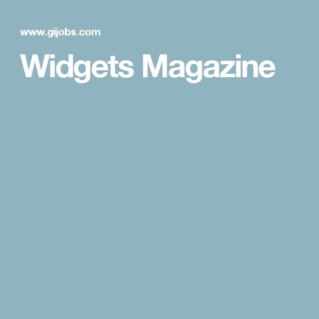 Widgets Magazine