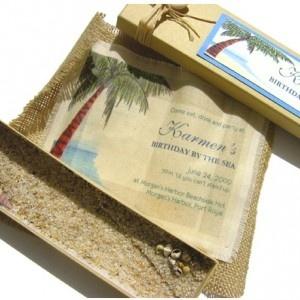 16 best Creative Beach Theme Invitations images on Pinterest ...