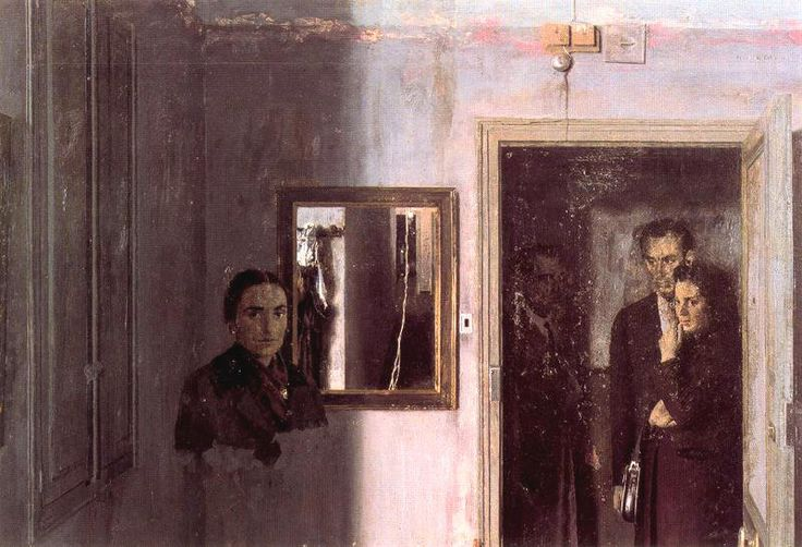 dappledwithshadow:  Figures in a House, Antonio Lopez Garcia 1967