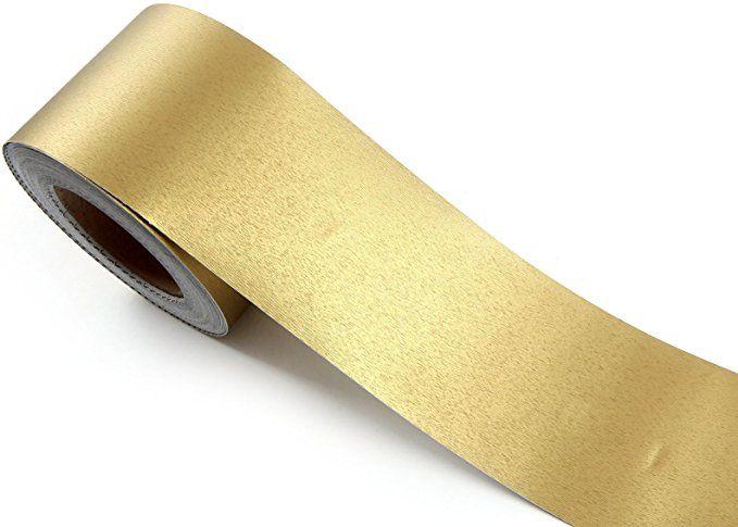 Roserosa Peel Stick Backsplash Soft Hair Line Gold Pearl Contact Paper Self Adhesive Border Roll Wallpaper Shelves Gold Contact Paper Self Adhesive Wallpaper