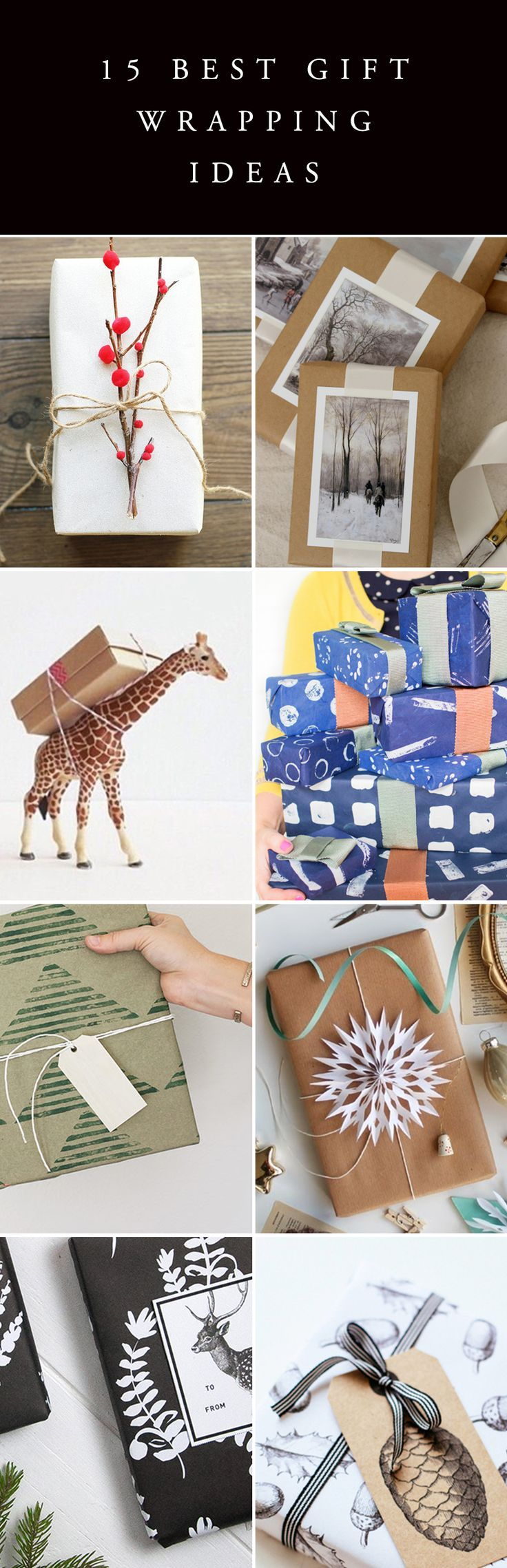 Lots of lovely simple ideas to make gift wrapping that extra bit special. I really love using brown kraft paper, so versatile. www.janetscardsonline.co.uk