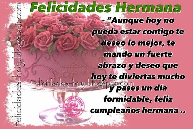 Tarjetas de Feliz Cumpleaños Feliz cumpleaños hermana Dios te bendiga tarjetas Pinterest