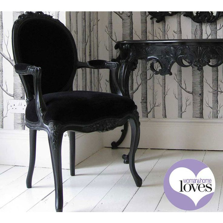 Sy Boo Lady S Bedroom Chair From The French Company Black Armchair Blackfurniture