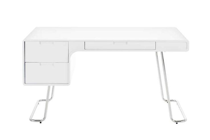 Bureau AchatDesign, achat Bureau design blanc Terry prix promo AchatDesign 599.00 € TTC